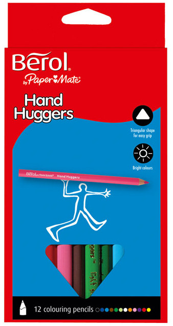 Berol Hand Hugger Colouring Pencil - Assorted Colours (Pack of 12)