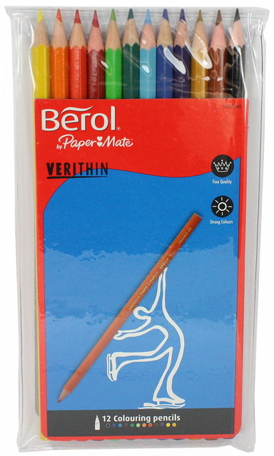 Berol Verithin Colouring Pencil - Assorted Colours (Pack of 12)