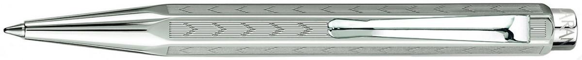 Caran d'Ache Ecridor XS Ballpoint Pen - 'Chevron' Silver Plated