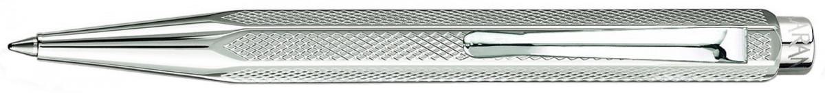 Caran d'Ache Ecridor XS Ballpoint Pen - 'Retro' Silver Plated