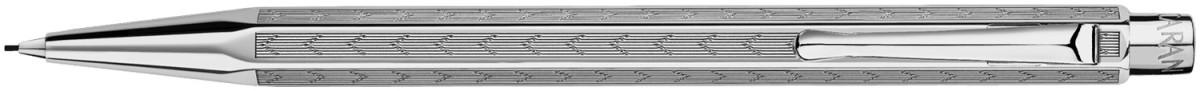 Caran d'Ache Ecridor Pencil - 'Chevron' Silver Plated