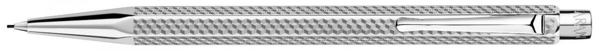 Caran d'Ache Ecridor Pencil - 'Cubrik' Silver Plated