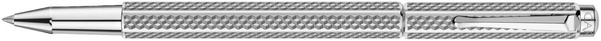 Caran d'Ache Ecridor Rollerball Pen - 'Cubrik' Silver Plated