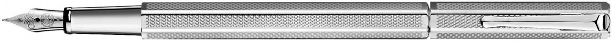 Caran d'Ache Ecridor Fountain Pen - 'Retro' Silver Plated