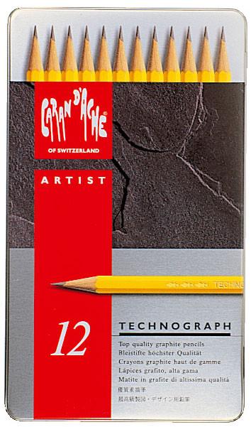 Caran d'Ache Technograph Pencils - Assorted Grades (Pack of 12)