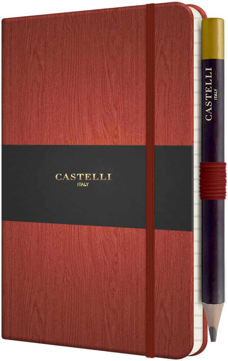 Castelli Tucson Acero Pocket Notebook - Ruled - Rust