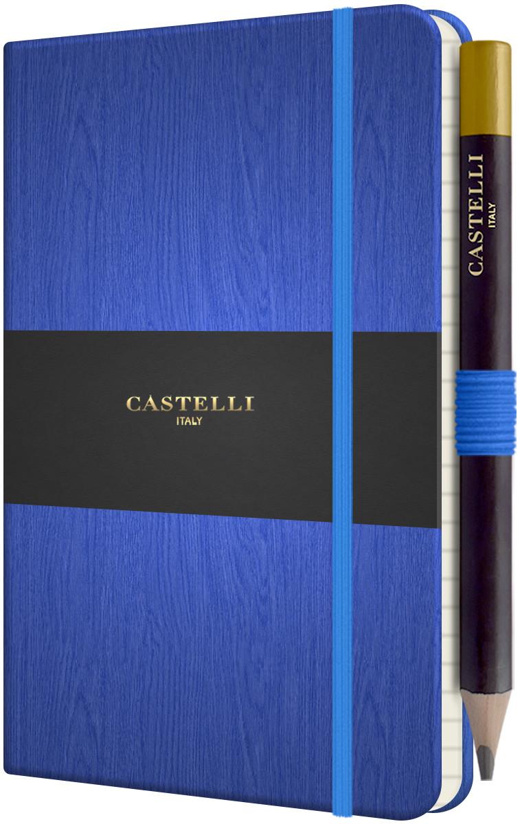 Castelli Tucson Acero Pocket Notebook - Ruled - Blue