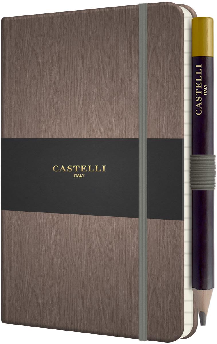 Castelli Tucson Acero Pocket Notebook - Ruled - Grey
