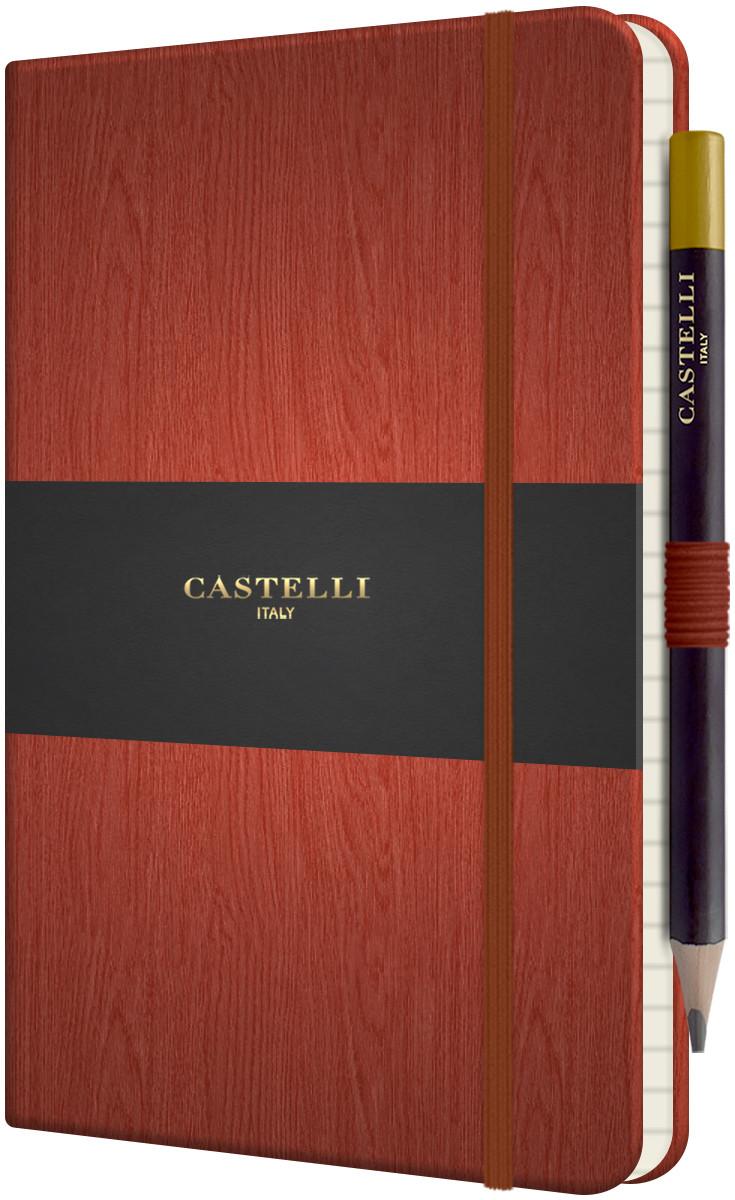 Castelli Tucson Acero Hardback Medium Notebook - Ruled - Rust