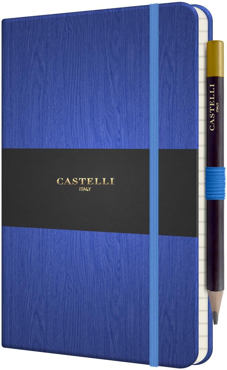 Castelli Tucson Acero Hardback Medium Notebook - Ruled - Blue