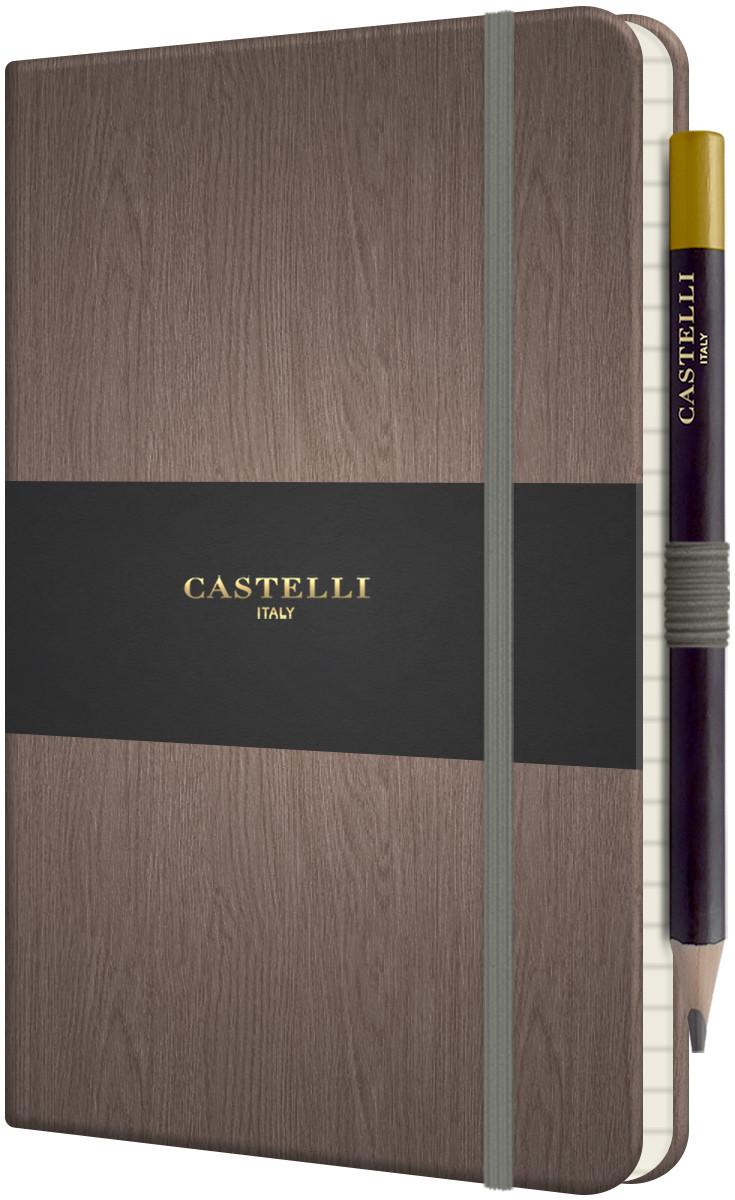 Castelli Tucson Acero Hardback Medium Notebook - Ruled - Grey