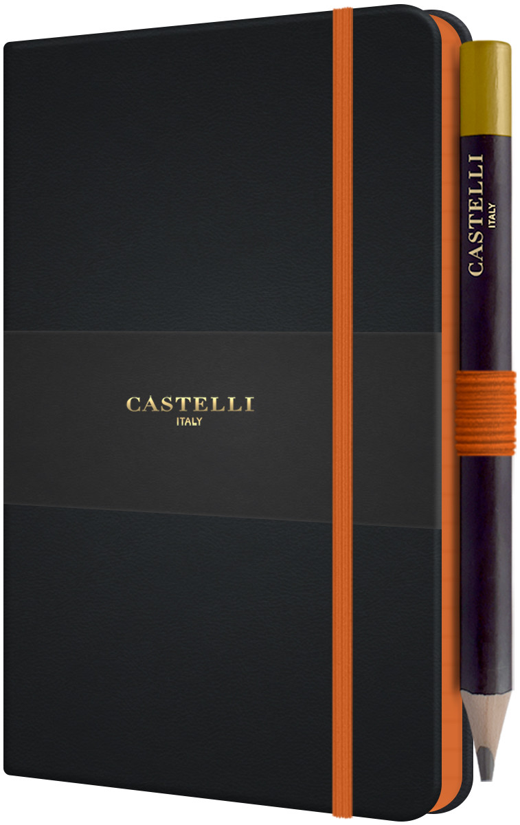 Castelli Tucson Edge Pocket Notebook - Ruled - Orange