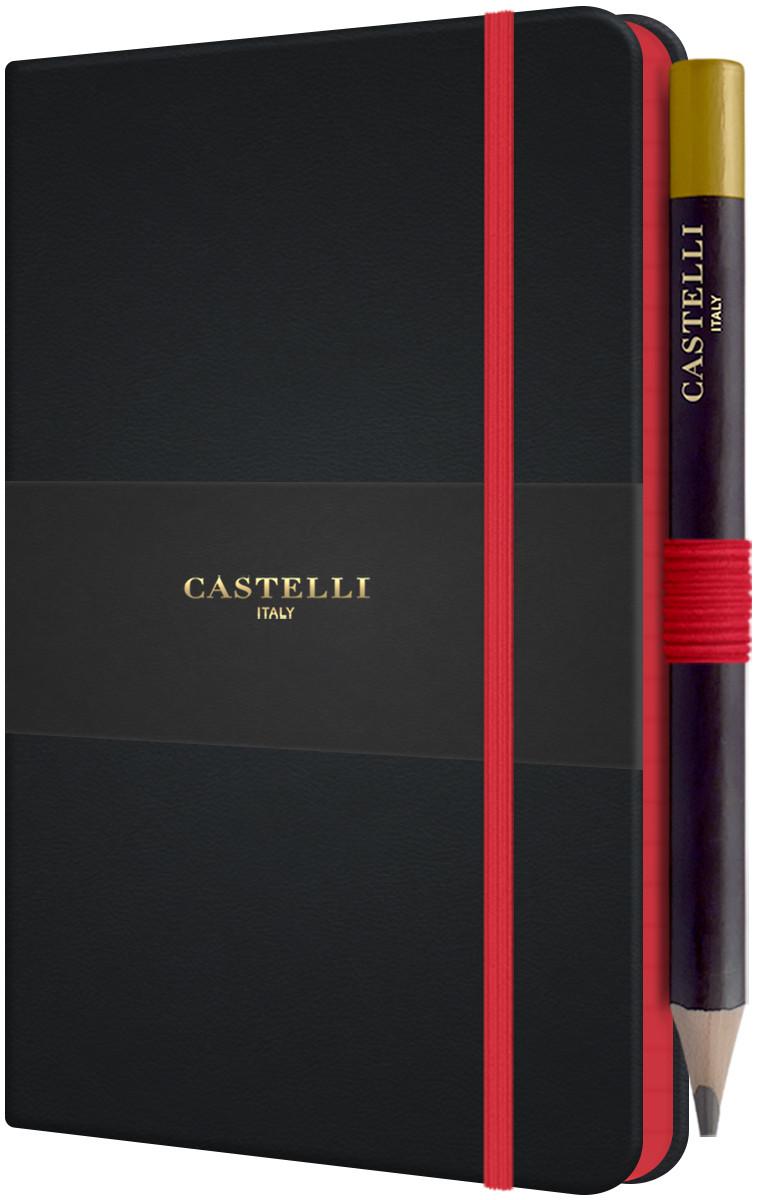 Castelli Tucson Edge Pocket Notebook - Ruled - Red