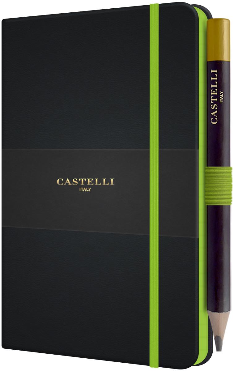 Castelli Tucson Edge Pocket Notebook - Ruled - Green