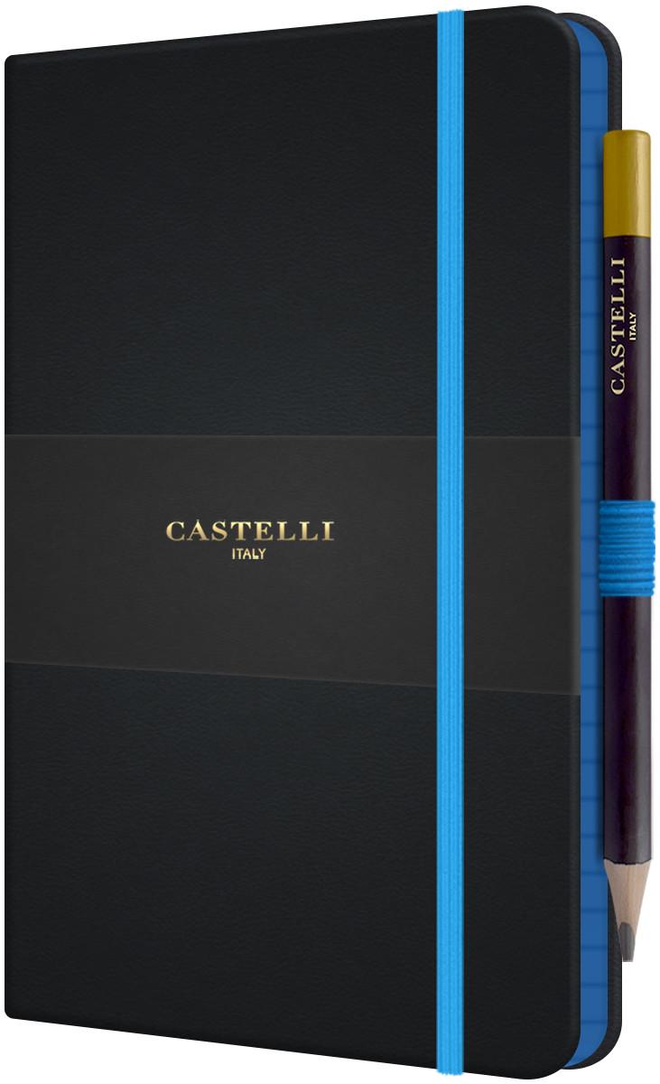 Castelli Tucson Edge Hardback Medium Notebook - Ruled - Blue