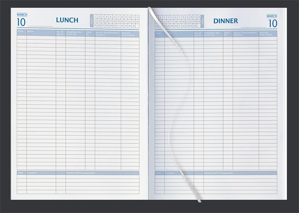 Castelli Restaurant Booking Diary