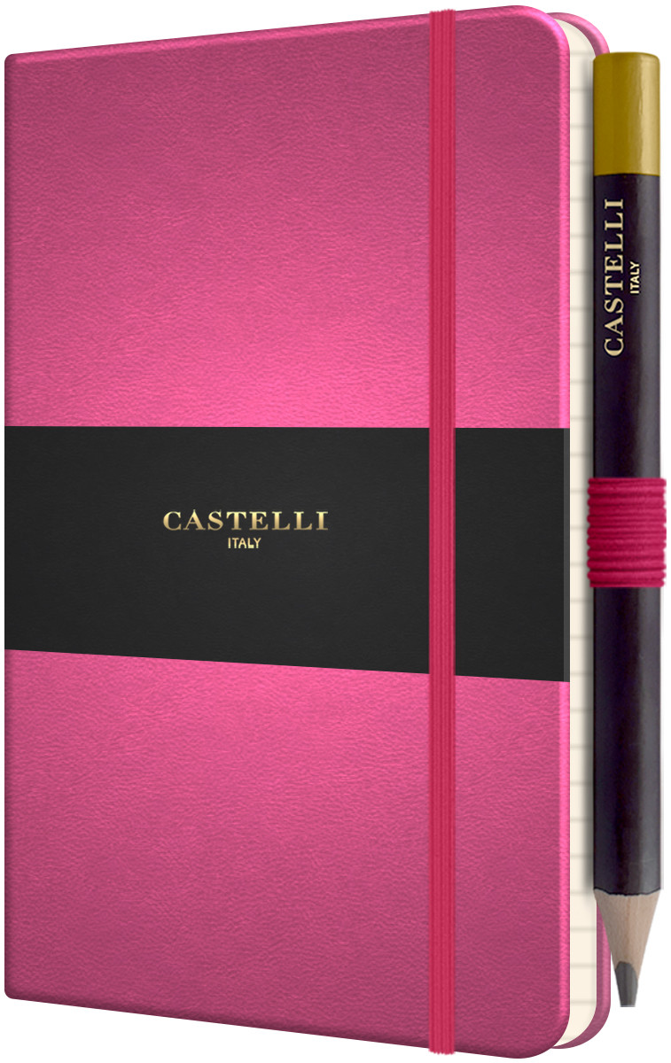 Castelli Tucson Hardback Pocket Notebook - Ruled - Pink