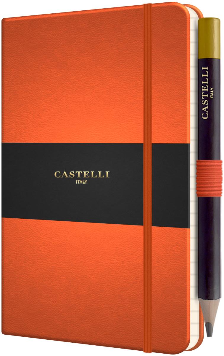 Castelli Tucson Hardback Pocket Notebook - Ruled - Orange