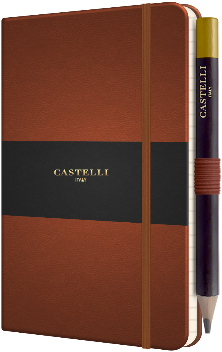 Castelli Tucson Hardback Pocket Notebook - Ruled - Brown