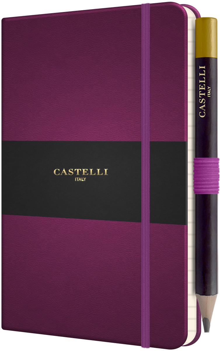 Castelli Tucson Hardback Pocket Notebook - Ruled - Purple