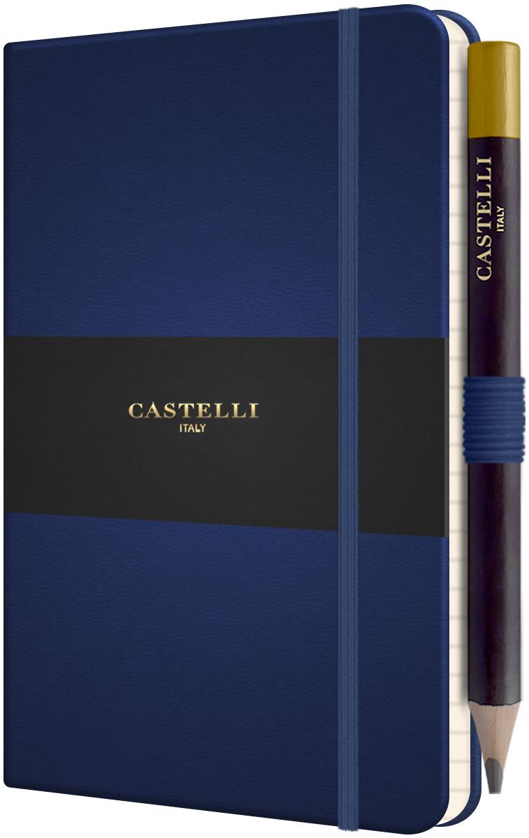 Castelli Tucson Hardback Pocket Notebook - Ruled - Royal Blue