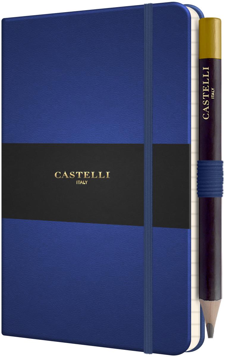 Castelli Tucson Hardback Pocket Notebook - Ruled - China Blue