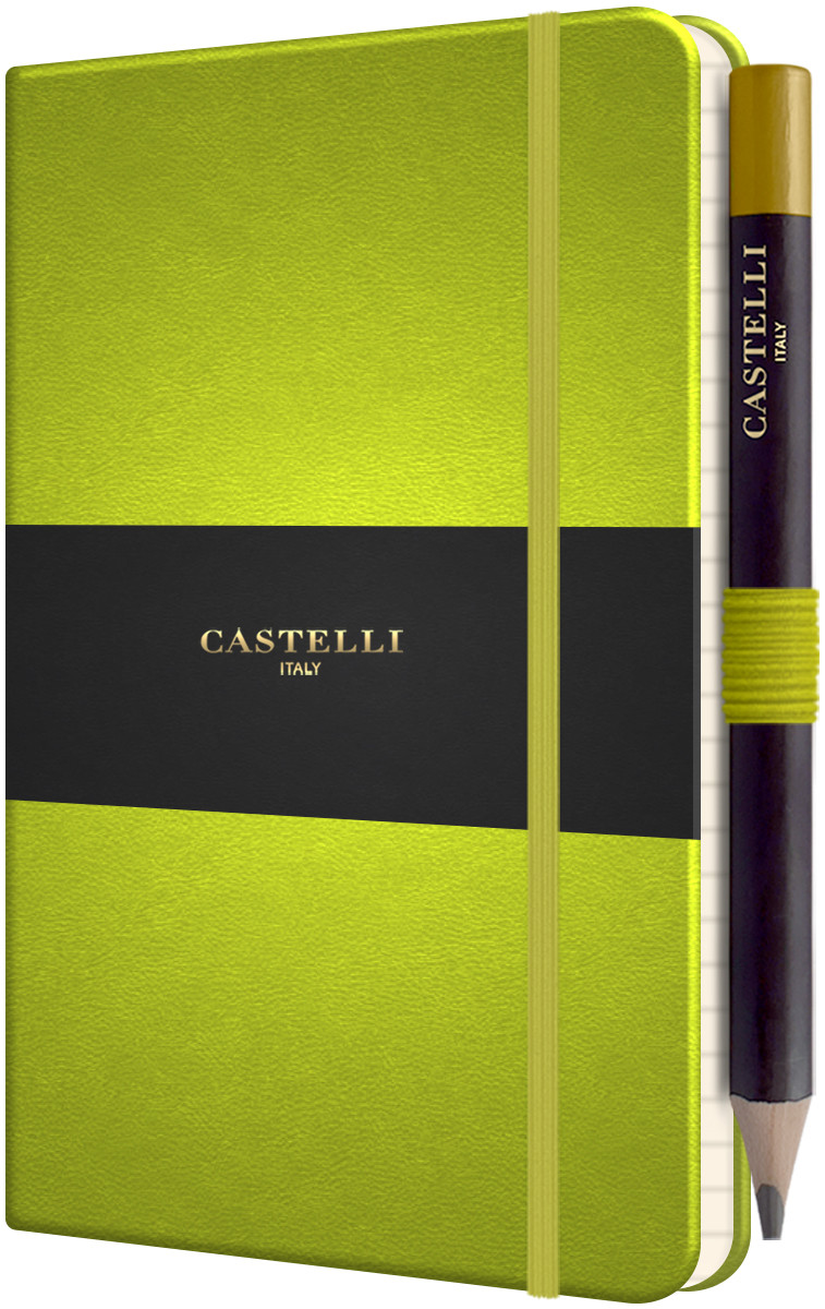 Castelli Tucson Hardback Pocket Notebook - Ruled - Neon Green