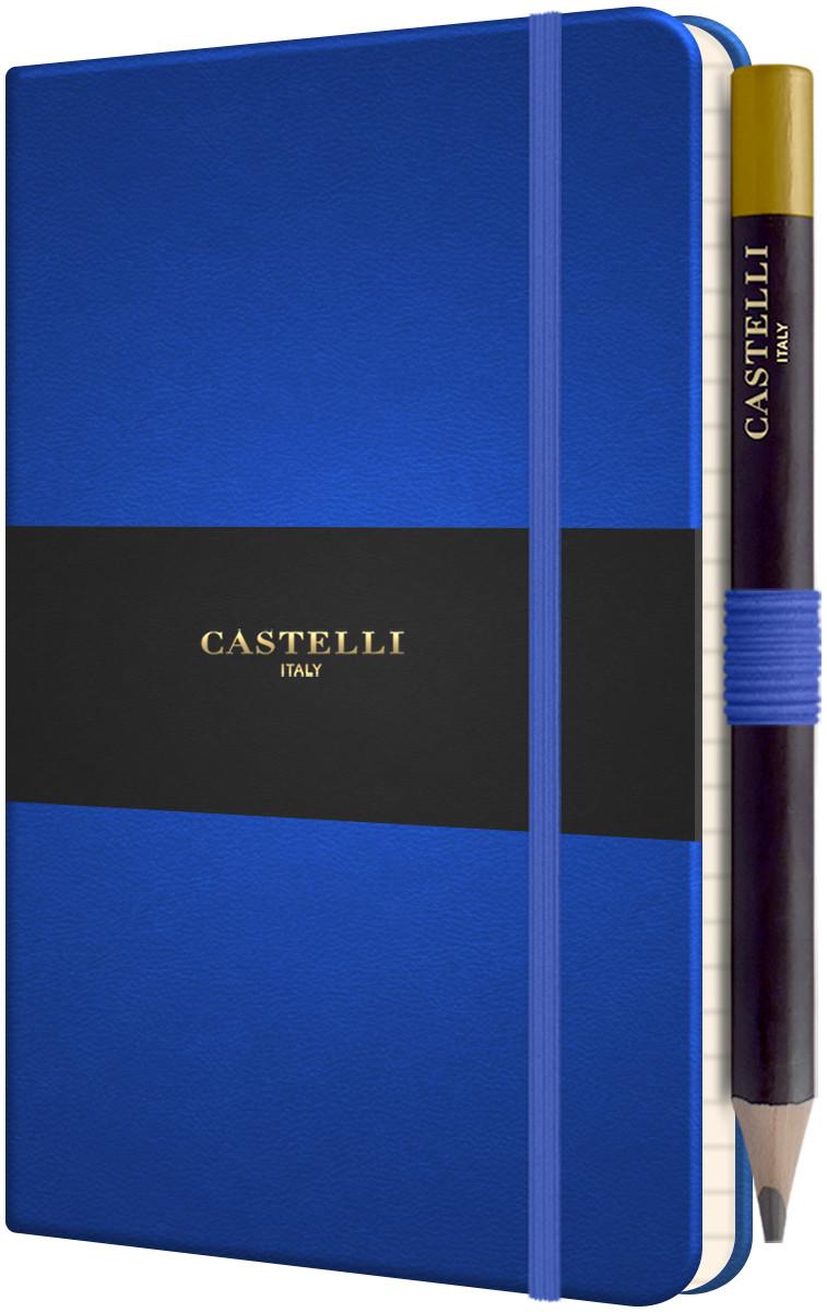 Castelli Tucson Hardback Pocket Notebook - Ruled - French Blue