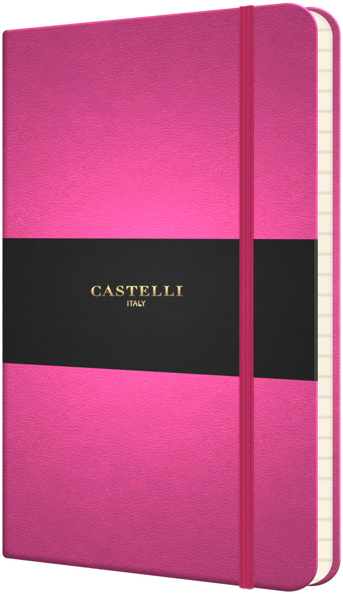 Castelli Flexible Pocket Notebook - Ruled - Pink