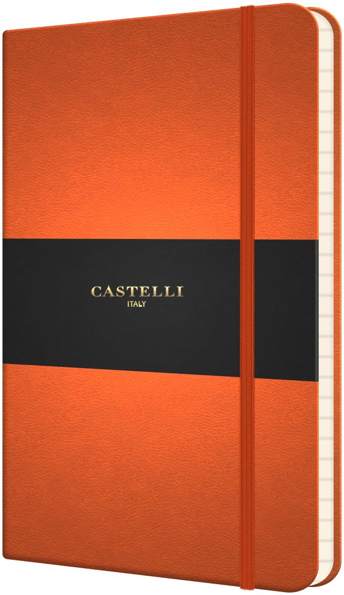 Castelli Flexible Pocket Notebook - Ruled - Orange