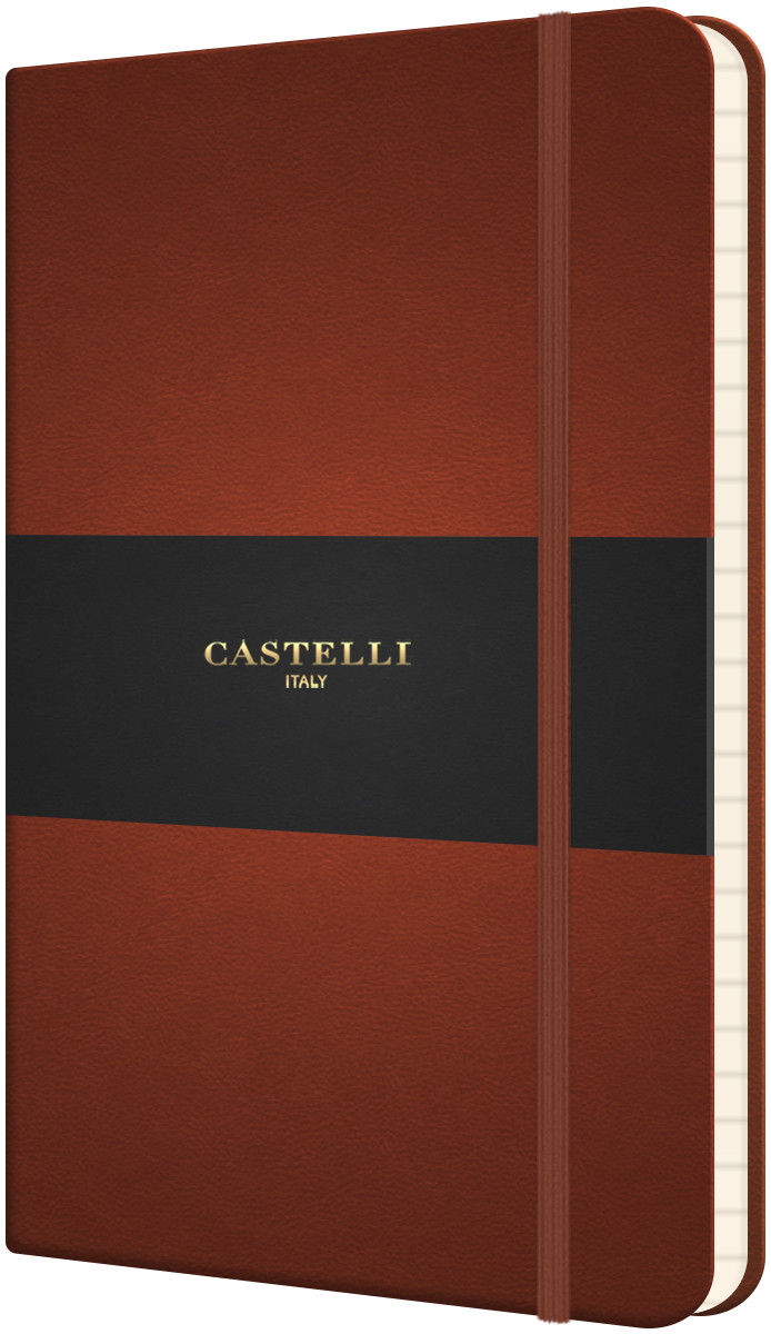 Castelli Flexible Pocket Notebook - Ruled - Brown