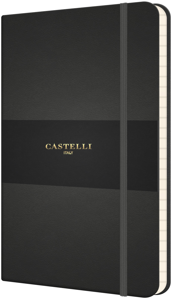 Castelli Flexible Pocket Notebook - Ruled - Graphite