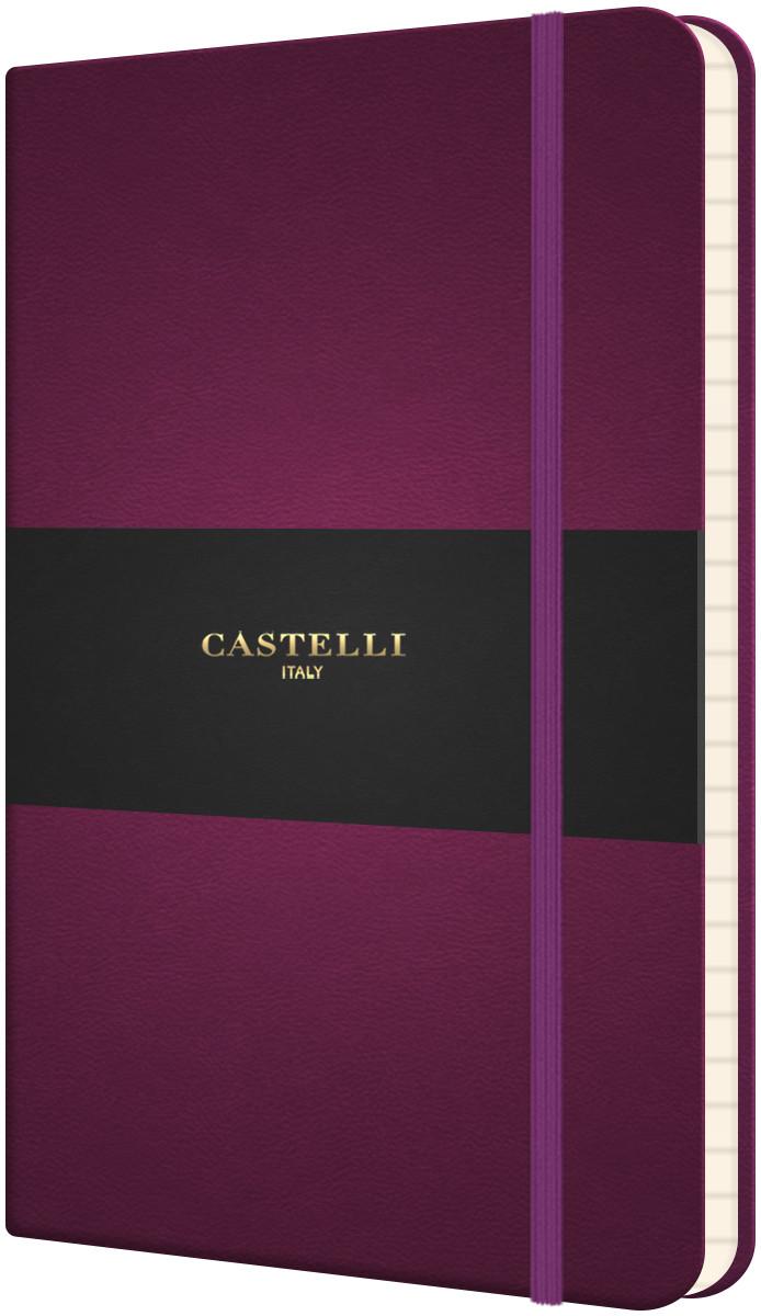 Castelli Flexible Pocket Notebook - Ruled - Purple