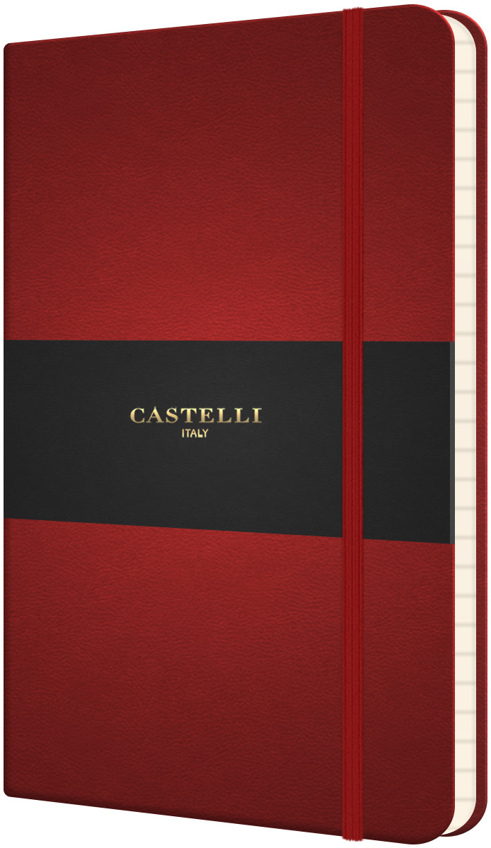 Castelli Flexible Pocket Notebook - Ruled - Red