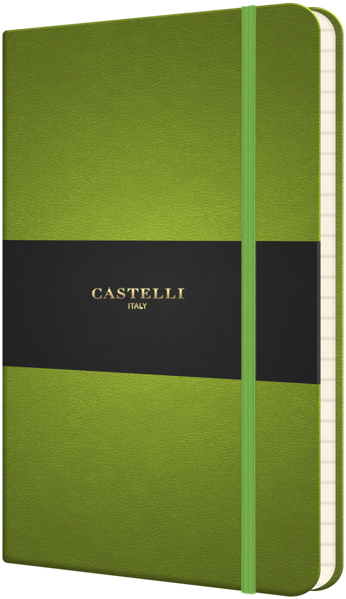 Castelli Flexible Pocket Notebook - Ruled - Bright Green
