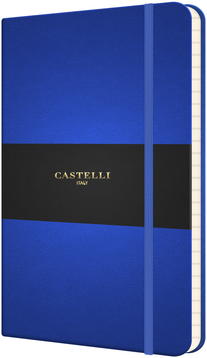 Castelli Flexible Pocket Notebook - Ruled - French Blue