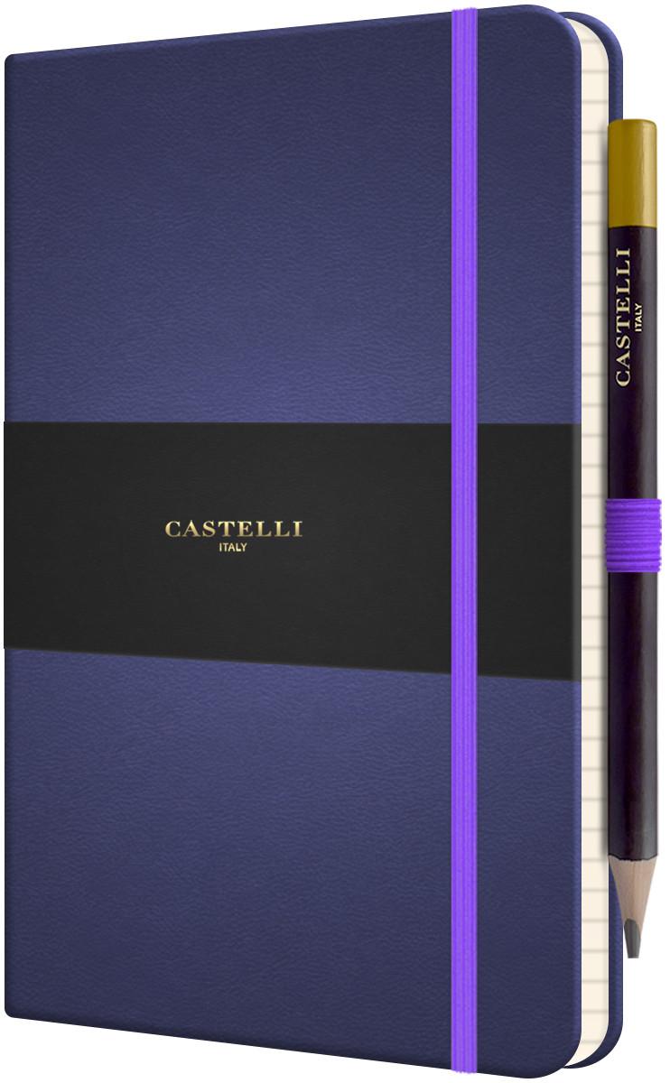 Castelli Tuscon Hardback Medium Notebook - Ruled - Indigo Blue