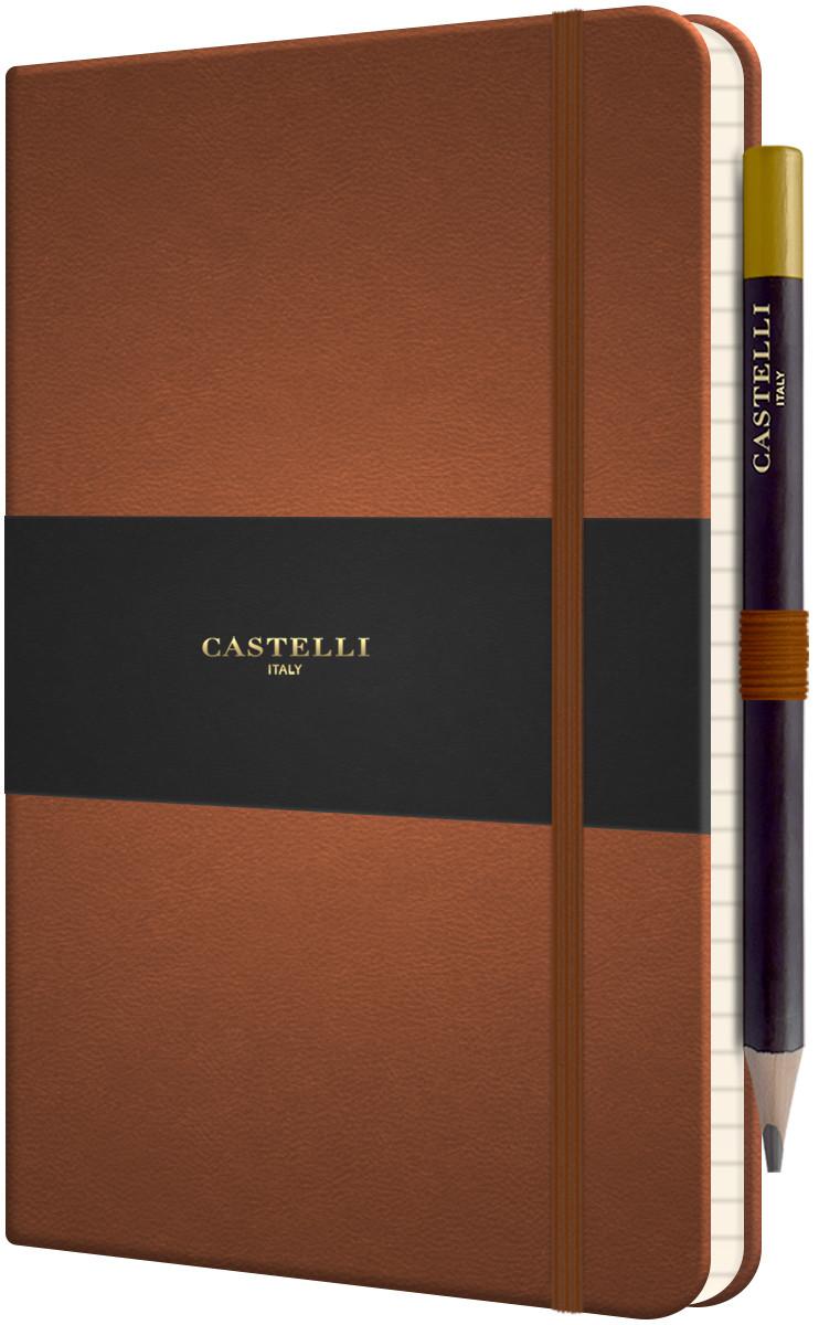 Castelli Tucson Hardback Medium Notebook - Ruled - Brown