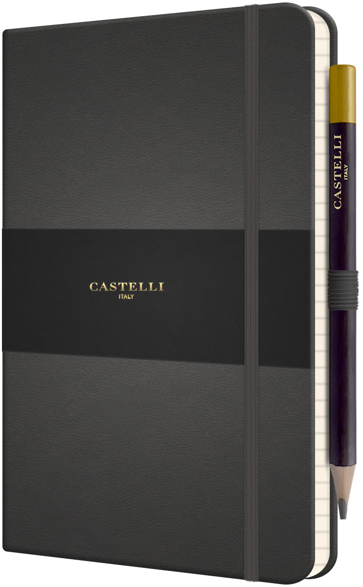 Castelli Tucson Hardback Medium Notebook - Ruled - Graphite