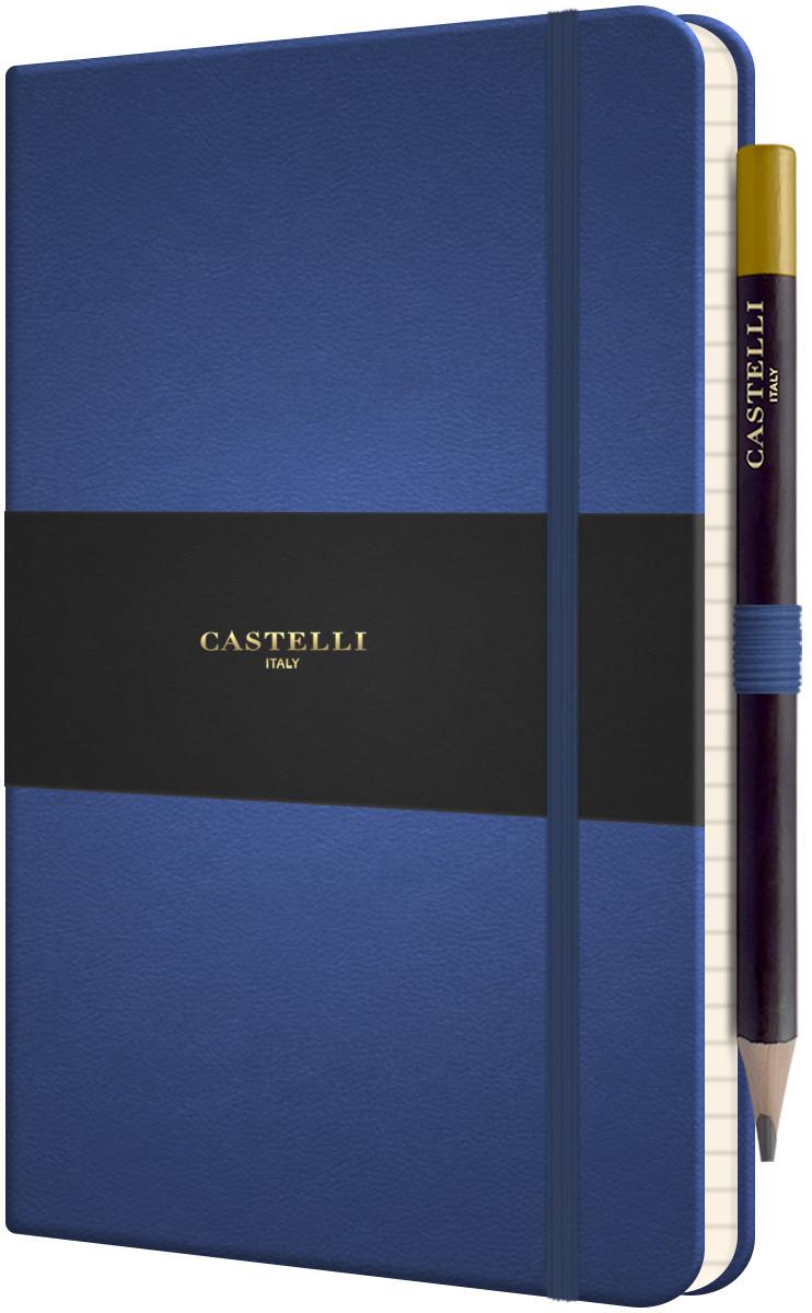 Castelli Tucson Hardback Medium Notebook - Ruled - China Blue