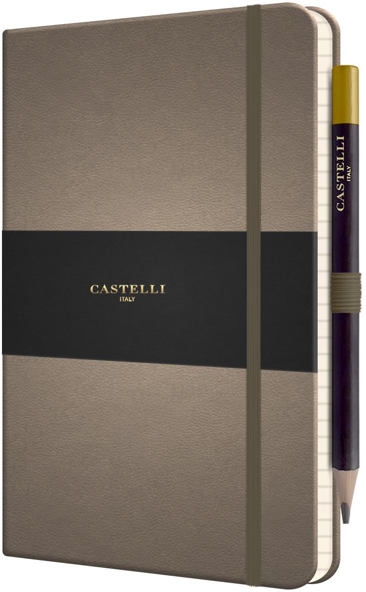 Castelli Tucson Hardback Medium Notebook - Ruled - Taupe