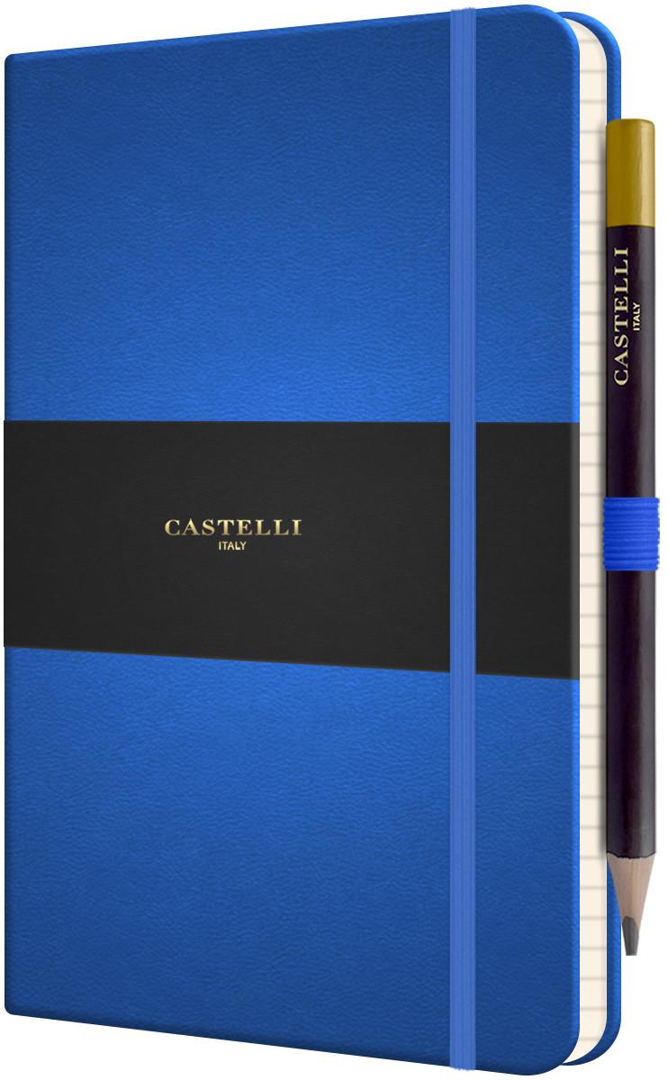 Castelli Tucson Hardback Medium Notebook - Ruled - French Blue