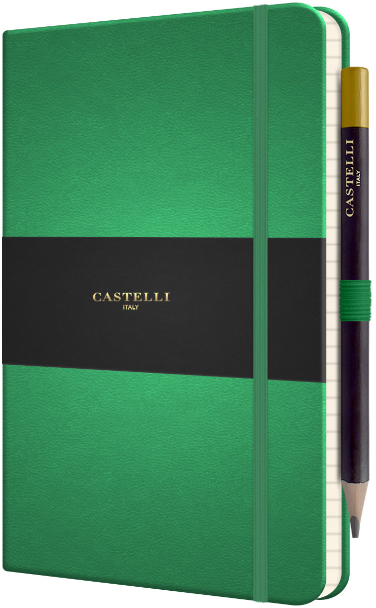 Castelli Tucson Hardback Medium Notebook - Ruled - Forest Green
