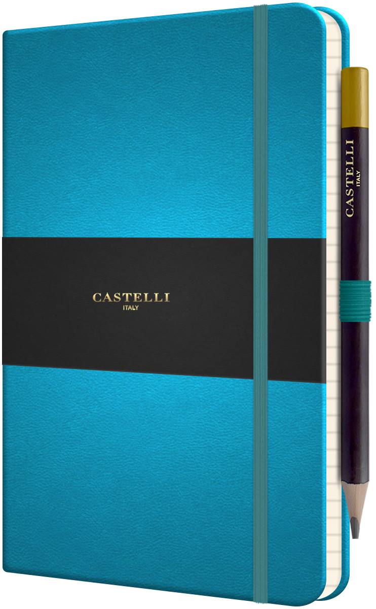Castelli Tucson Hardback Medium Notebook - Ruled - Bright Blue