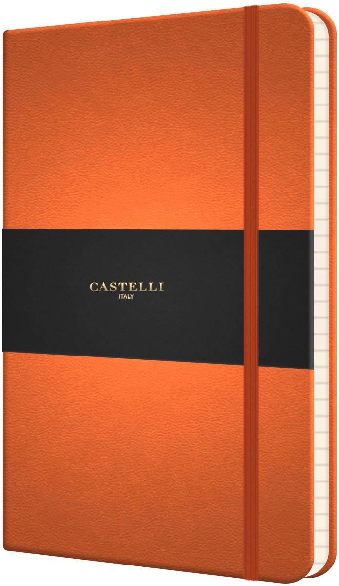 Castelli Flexible Medium Notebook - Ruled - Orange