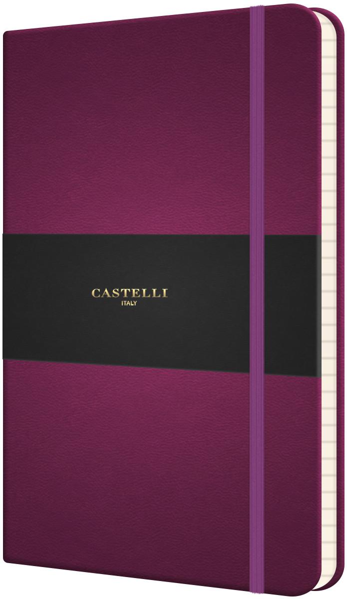 Castelli Flexible Medium Notebook - Ruled - Purple