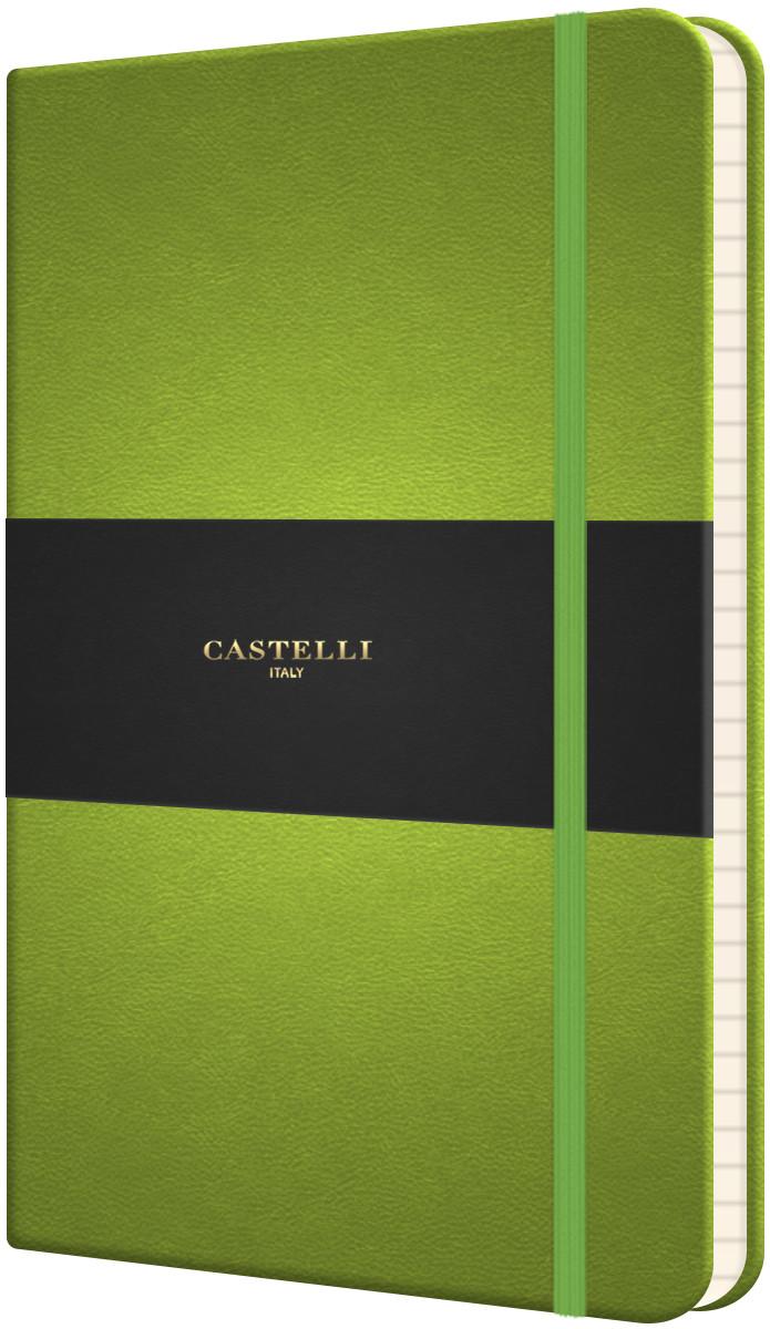 Castelli Flexible Medium Notebook - Ruled - Bright Green