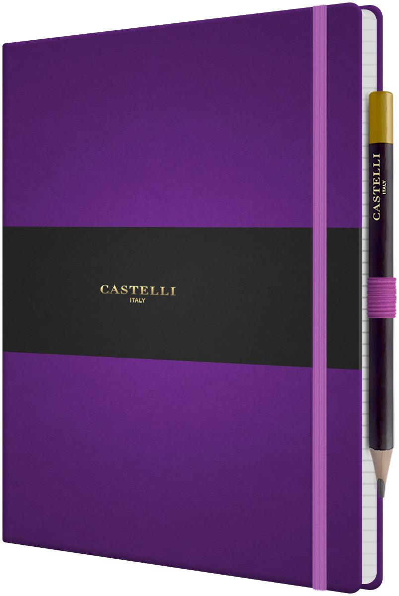 Castelli Tucson Hardback Large Notebook - Ruled - Purple