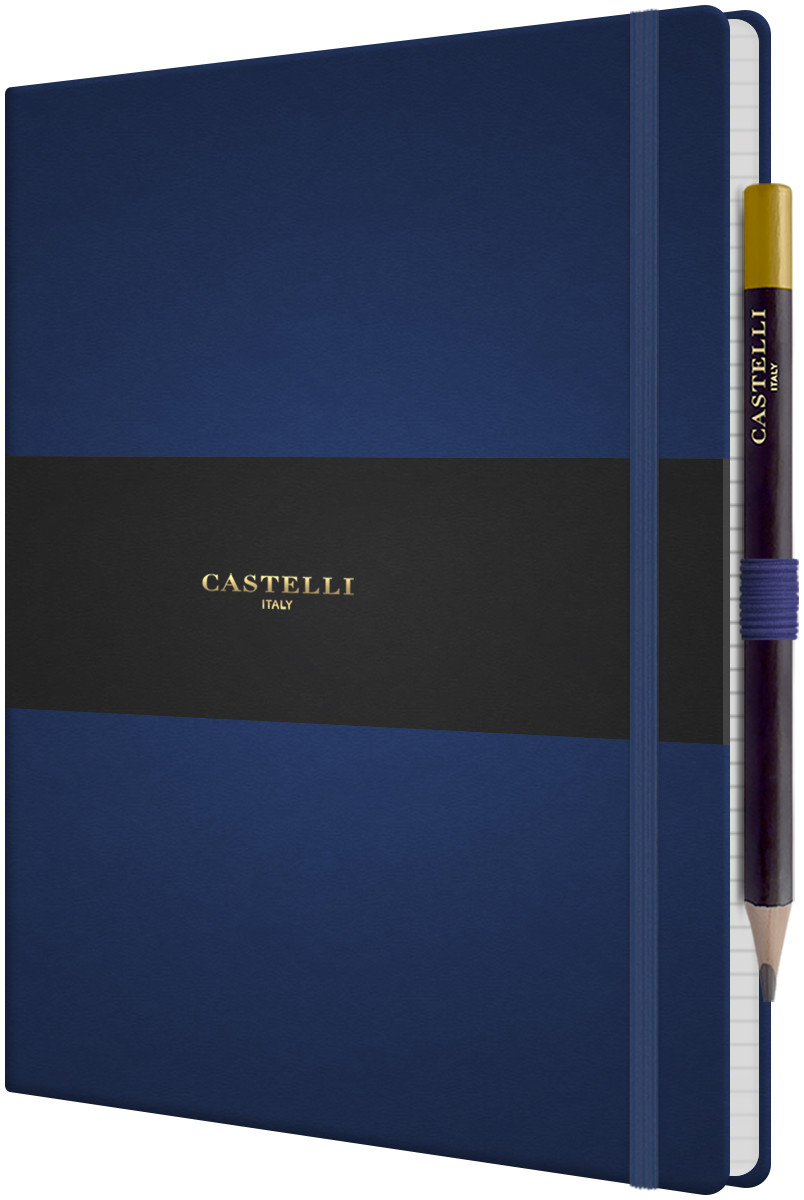 Castelli Tucson Hardback Large Notebook - Ruled - Royal Blue