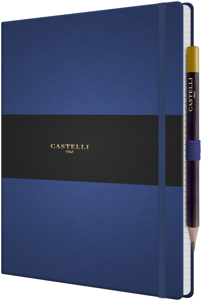 Castelli Tucson Hardback Large Notebook - Ruled - China Blue
